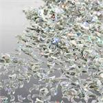 Silver-Prismatic-Moon-Confetti, Crescent Moon Shaped Confetti