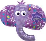 Large Purple Elephant Balloon