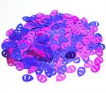 Easter Confetti Metallic Purple and Pink
