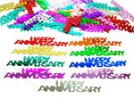 Happy Anniversary Confetti Metallic