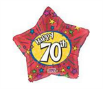 Red 70th Birthday Balloon