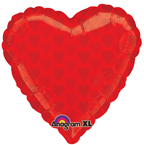 Red Heart on Heart Balloon