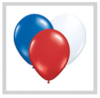 Red, White and Blue Latex Balloons, 11