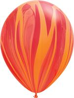 Red Orange Agate Balloon, 25 Count