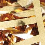 Rose Gold Metallic Shred, Gold ribbon confetti bulk