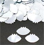 Silver Football Confetti
