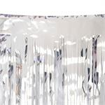 Metallic Silver Skirt 14' wide for float or stage
