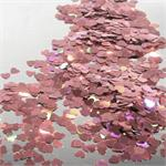 Pink Prismatic Heart Confetti Bulk by the Pound