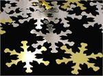 Christmas Snowflake Confetti Silver and Gold Metallic
