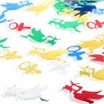 Storks and Pacifier Baby Shower Confetti