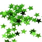 Tiny Green Metallic Star Confetti 1/8
