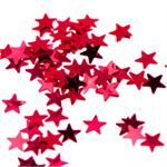 Tiny Red Metallic Star Confetti