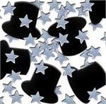 Top Hat Confetti-with-Silver Stars
