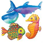 Under the sea balloons fish whale seahorse shark balloons for Sharks fish chicken little rock ar