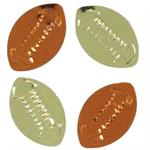 Bulk Metallic Football Confetti