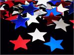 Red, White and Blue Star Confetti