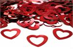 Metallic Red Open Heart Confetti