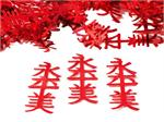 Asian Confetti, Chinese Symbol in Red