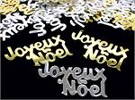 Merry Christmas in French, Joyeux Noel Confetti