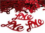 Red Metallic Love Confetti