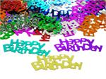 Happy Birthday Confetti, Metallic Multi-Colored