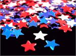 Red, White and Blue Star Confetti, 1/4