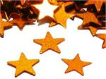 Orange Star Confetti, Metallic Confetti 1/4