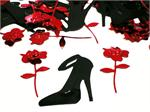 Simple Elegance, Rose Confetti, High Heel Shoe Confetti