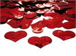 Red Heart Confetti imprinted with the word love