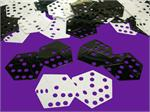 Dice Party Confetti Black and White