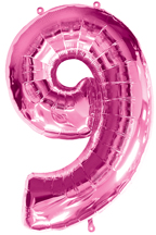 Number 9 Pink Balloon