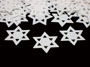 Star of David, White Confetti Available by the Packet or Pound