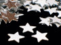 "1/4"" Silver Star Shaped Confetti"