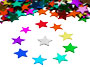"Star Confetti, Multi 1/4"" by the pound or packet"