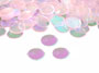 "Round Confetti, Iridescent 1/4"" by the pound or packet"