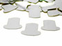 Top Hat Confetti, Silver by the packet or pound