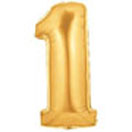 Large Gold Number 1 Balloon-Helium-Quality