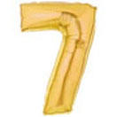 Gold Number 7 Mylar Balloon