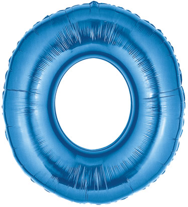 Number 0 Balloon Large Blue Number 0 Balloons Are 40 Quot