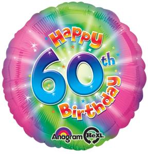 60th birthday balloon tie dye design 60th birthday decoration