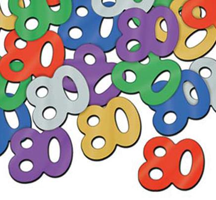 deluxe number 80 confetti metallic 80th birthday party confetti