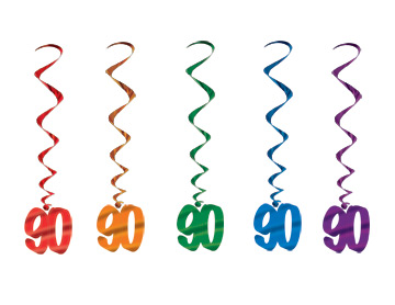90th Birthday Danglers Metallic Hanging Decorations