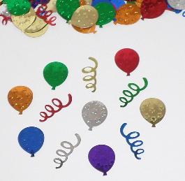balloon shaped confetti multi colored balloon confetti by the pound