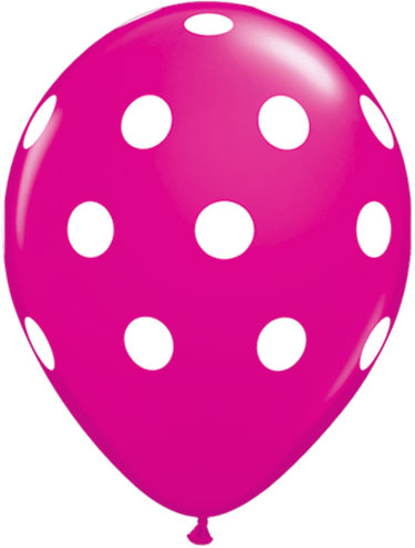 Wild Berry Polka Dot Balloons Biodegradable Polka Dot Balloons