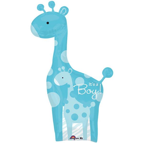 Baby Giraffe Clipart Blue Blue Giraffe Balloon