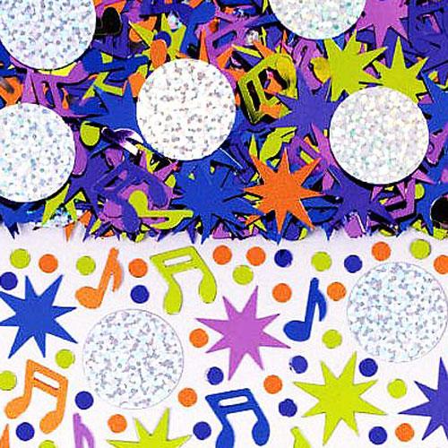 Disco Ball Table Decorations: Shiny Music Note Confetti