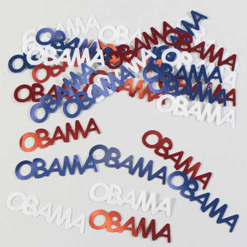 Democratic Party Confetti  Red  White And Blue Obama Party