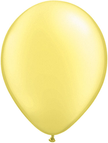 Pearl Lemon Chiffon Balloons Biodegradeable Lemon Yellow