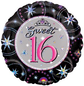Sweet 16 Balloon Prismatic