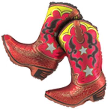 Cowboy Boots Balloon Pair Of Cowboy Boots Balloon